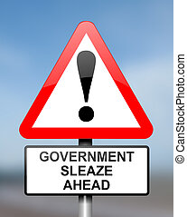 Government sleaze concept. - Illustration depicting red and...