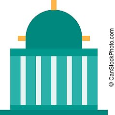 Government, speaker, congress icon vector image.Can also be...