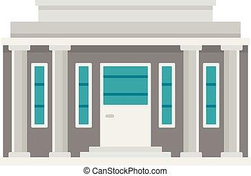 Governmental courthouse icon. Flat illustration of governmental courthouse vector icon for web design