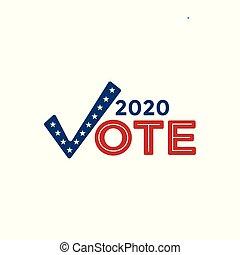 governo, &, patriótico, cores, 2020, simbolismo, votando, voto, ícone