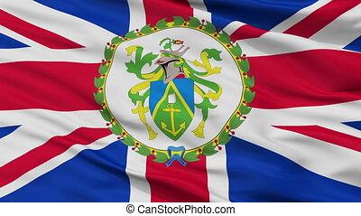 Governor Of Pitcairn Islands Flag Closeup Seamless Loop -...