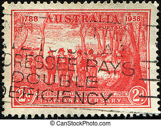 Governor Phillipat Sydney Cove, 1788 - AUSTRALIA - CIRCA ...