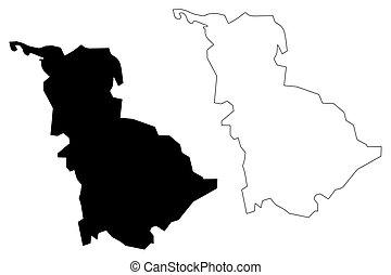 governorate, ベクトル, babil, 地図