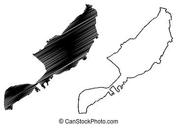 governorate, luxor, mapa