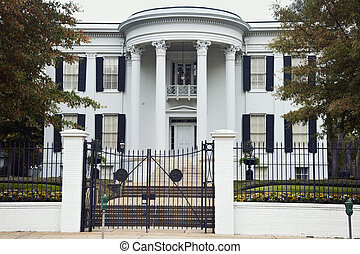 Governor's Mansion in Jackson, Mississippi. National historic landmark.