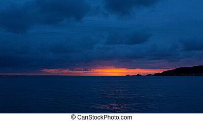 Gower sunrise over Mumbles