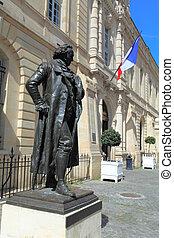 goya, de, estatua, francisco