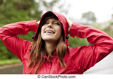 gozar, día lluvioso