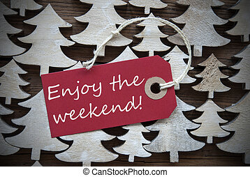 gozar, fin de semana, navidad, rojo, etiqueta