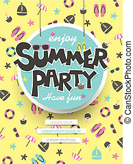 gozar, verano, fiesta, cartel