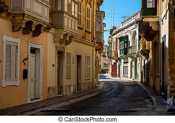 Gozo street. - Old street at Victoria town. The capital of...