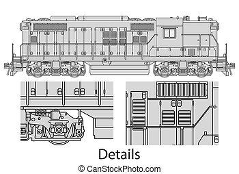 gp9-558, locomotora