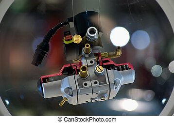 Gpl engine component close up with a nice bokeh backgroun