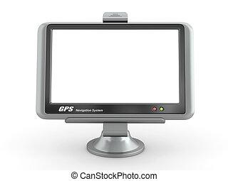 gps, 由于, 空, screen., 3d