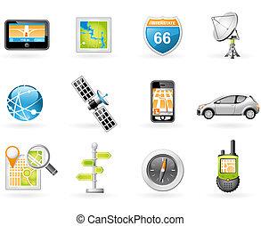 GPS and Navigation Icon Set
