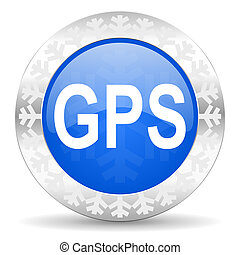 gps christmas icon