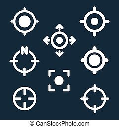 gps, cible, emplacement, symboles