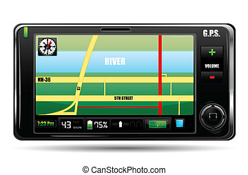 gps - illustration of gps on white background