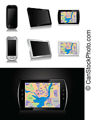 GPS device - vector illustration - GPS device - global...