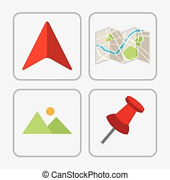 gps icon design, vector illustration eps10 graphic