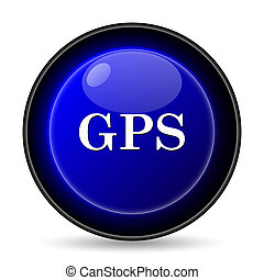 GPS icon. Internet button on white background.