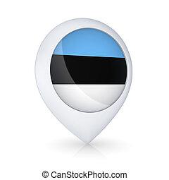 GPS icon with flag of Estonia.