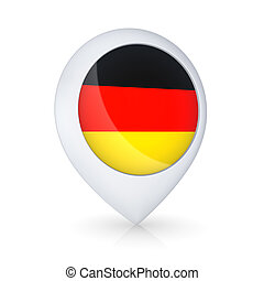GPS icon with flag of Germany.