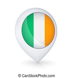 GPS icon with flag of Ireland.