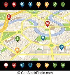 GPS like imaginary city MAP