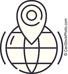 Gps line icon concept. Gps vector linear illustration, symbol, sign