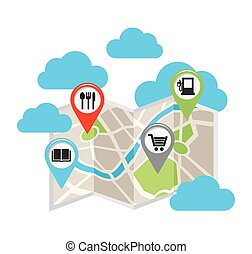 gps location design, vector illustration eps10 graphic