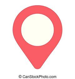 gps location map cartoon