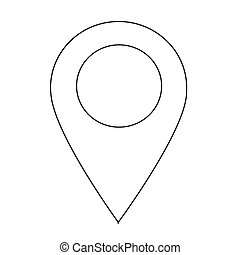 GPS location Map pointer icon