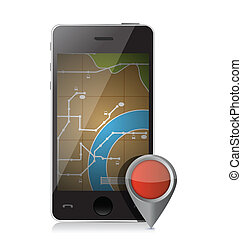 gps locator illustration design
