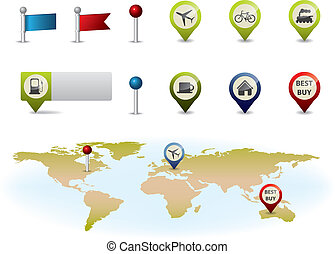 Gps map elements