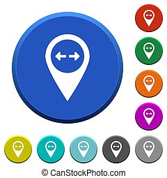 GPS map location distance beveled buttons
