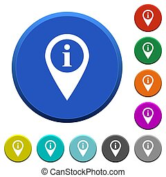 GPS map location information beveled buttons