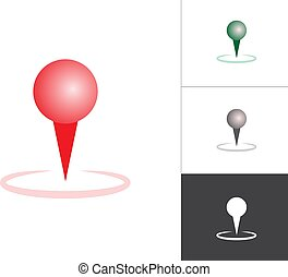 GPS Map Pointer Isolated Vector Illustration Icon. Map Pin Concept Symbol on White Background