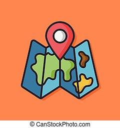 GPS map vector icon