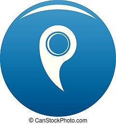 Gps mark icon blue vector