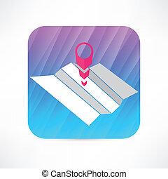 gps mark icon