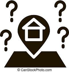 Gps Mark With House Icon Illustration