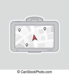gps, navigatör