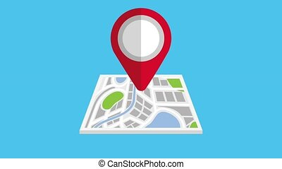 gps navigation application - gps navigation city map street...