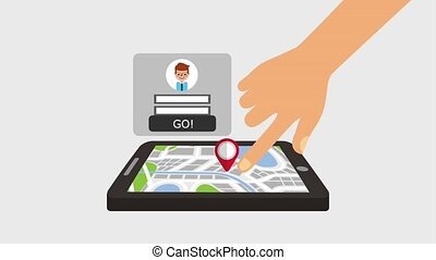 gps navigation application - gps navigation map in screen...