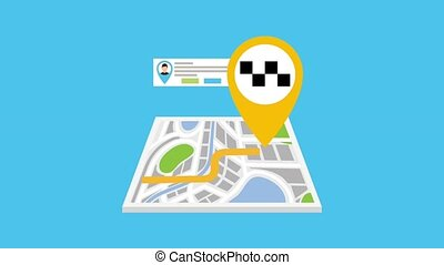 gps navigation application - gps navigation map with route...