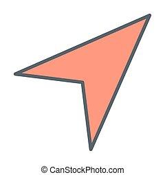 Gps navigation arrow line icon. Vector illustration
