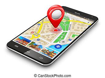 gps, navigation, begrepp