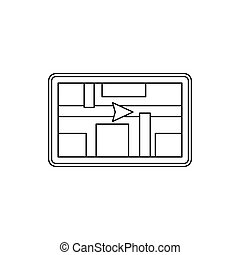 GPS navigation icon, outline style