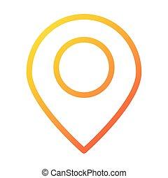 gps navigation location pin internet web technology interface gradient style icon